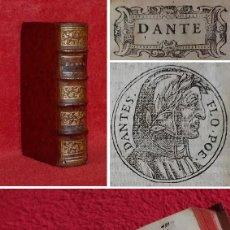 Libros antiguos: AÑO 1575 - DANTE - LA DIVINA COMEDIA - EDICION ILUSTRADA - EL INFIERNO, EL PURGATORIO, EL PARAISO. Lote 224478016