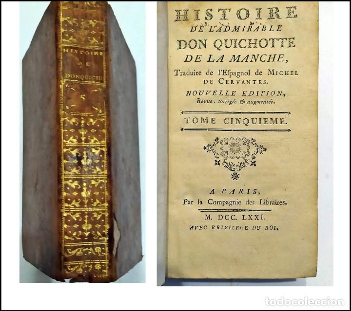 AÑO 1771: DON QUIJOTE DE LA MANCHA. CERVANTES. SIGLO XVIII (Libros antiguos (hasta 1936), raros y curiosos - Literatura - Narrativa - Clásicos)