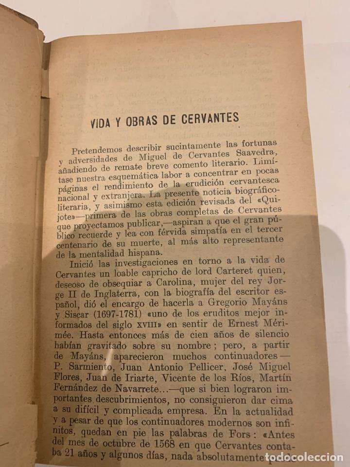 Libros antiguos: El ingenioso Hidalgo Don Quijote de la mancha - Foto 3 - 225855960