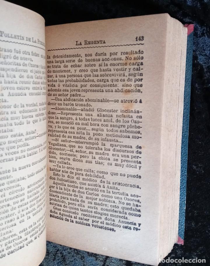 Libros antiguos: LA REGENTA - LEOPOLDO ALAS CLARIN - DOS TOMOS - FOLLETIN DE LA PUBLICIDAD - RARO - Foto 5 - 226869840