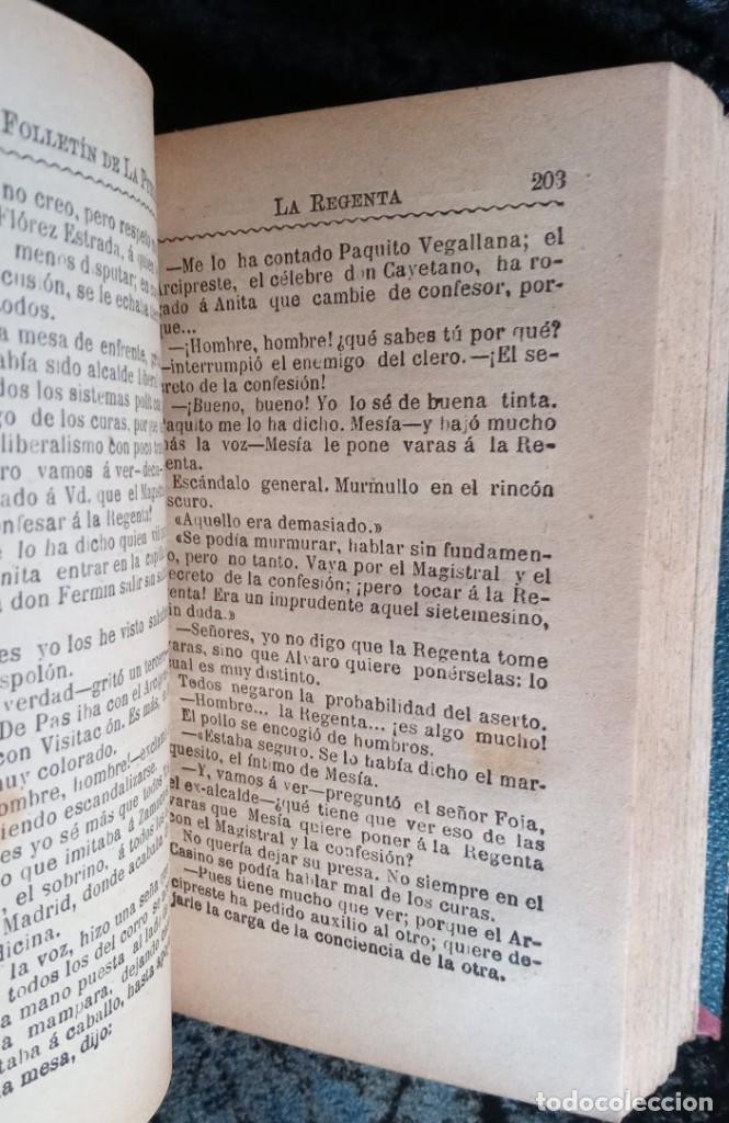 Libros antiguos: LA REGENTA - LEOPOLDO ALAS CLARIN - DOS TOMOS - FOLLETIN DE LA PUBLICIDAD - RARO - Foto 6 - 226869840