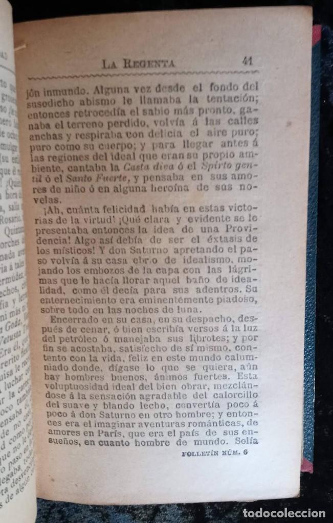 Libros antiguos: LA REGENTA - LEOPOLDO ALAS CLARIN - DOS TOMOS - FOLLETIN DE LA PUBLICIDAD - RARO - Foto 7 - 226869840