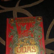 Libros antiguos: ODAS DE HORACIO FLACO, LIBRO DE 1882. Lote 227086080