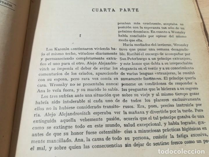 Libros antiguos: CONDE LEON TOLSTOI : ANA KARENIN - KARENINA - TOMO I Y II - SOPENA 1936 - Foto 10 - 228684065