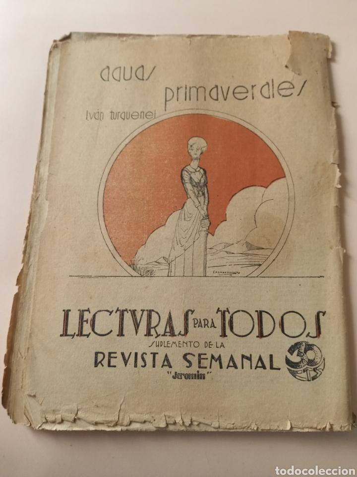 Libros antiguos: Aguas Primaverales Iván Turguenef 1932 Lectura para todos Jeromin - Foto 2 - 228728725