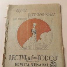 Libros antiguos: AGUAS PRIMAVERALES IVÁN TURGUENEF 1932 LECTURA PARA TODOS JEROMIN. Lote 228728725