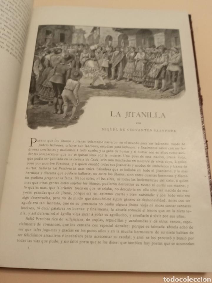 Libros antiguos: Novelas Cervantes Biblioteca Pluma y lápiz. - Foto 2 - 228773225