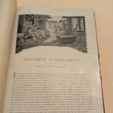 Libros antiguos: NOVELAS CERVANTES BIBLIOTECA PLUMA Y LÁPIZ.. Lote 228773225