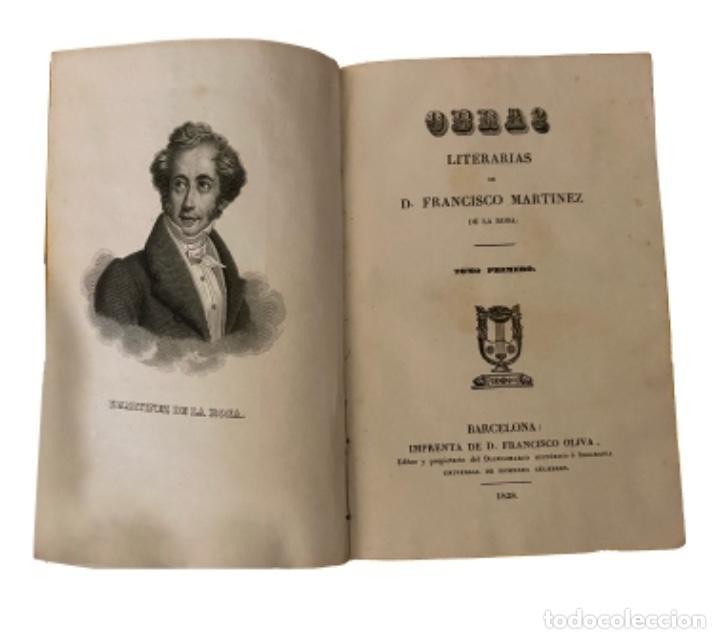 Libros antiguos: Obra de Martinez de la rosa, 1848, muy bien conservados.6 tomos - Foto 2 - 229074330