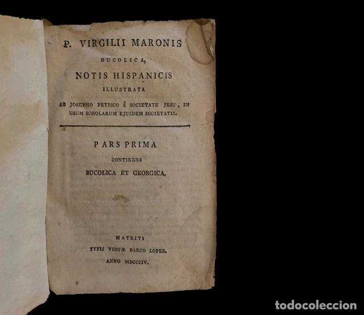 VIRGILIO CON NOTAS, BUCÓLICA Y GEÓRGICA, 1804, PERGAMINO. (Libros antiguos (hasta 1936), raros y curiosos - Literatura - Narrativa - Clásicos)