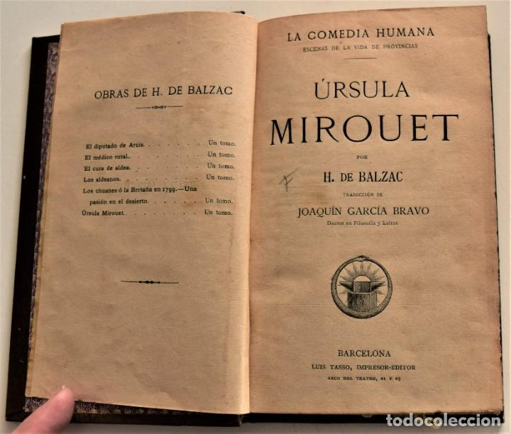 Libros antiguos: LOTE 7 LIBROS DE HONORE DE BALZAC DE LA COMEDIA HUMANA EDITADOS POR LUIS TASSO PRINCIPIOS SIGLO XX - Foto 4 - 230058240
