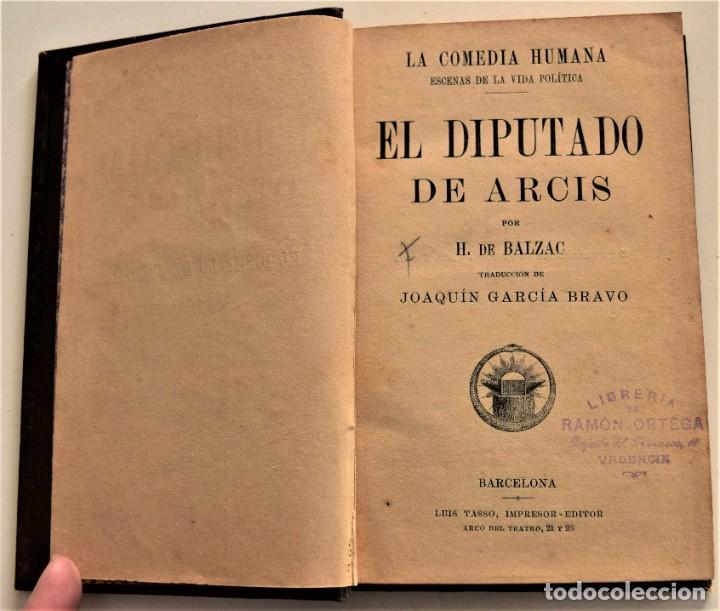 Libros antiguos: LOTE 7 LIBROS DE HONORE DE BALZAC DE LA COMEDIA HUMANA EDITADOS POR LUIS TASSO PRINCIPIOS SIGLO XX - Foto 8 - 230058240