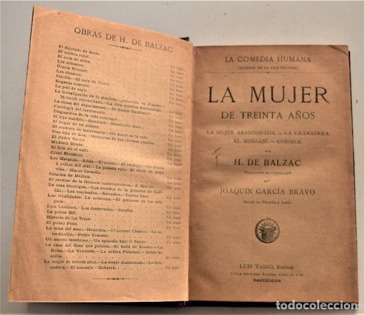 Libros antiguos: LOTE 7 LIBROS DE HONORE DE BALZAC DE LA COMEDIA HUMANA EDITADOS POR LUIS TASSO PRINCIPIOS SIGLO XX - Foto 14 - 230058240