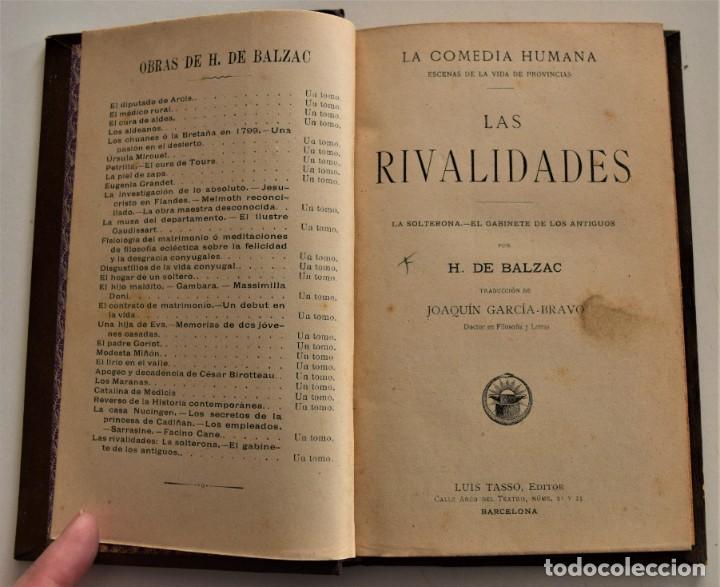 Libros antiguos: LOTE 7 LIBROS DE HONORE DE BALZAC DE LA COMEDIA HUMANA EDITADOS POR LUIS TASSO PRINCIPIOS SIGLO XX - Foto 19 - 230058240