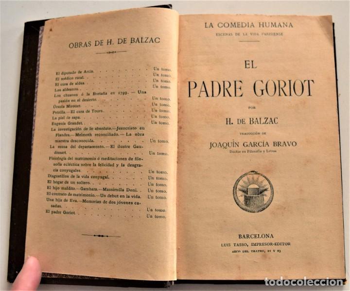 Libros antiguos: LOTE 7 LIBROS DE HONORE DE BALZAC DE LA COMEDIA HUMANA EDITADOS POR LUIS TASSO PRINCIPIOS SIGLO XX - Foto 23 - 230058240