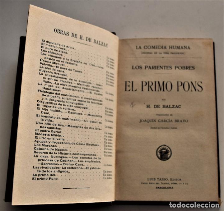 Libros antiguos: LOTE 7 LIBROS DE HONORE DE BALZAC DE LA COMEDIA HUMANA EDITADOS POR LUIS TASSO PRINCIPIOS SIGLO XX - Foto 26 - 230058240