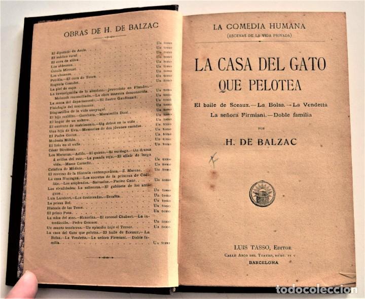 Libros antiguos: LOTE 7 LIBROS DE HONORE DE BALZAC DE LA COMEDIA HUMANA EDITADOS POR LUIS TASSO PRINCIPIOS SIGLO XX - Foto 31 - 230058240