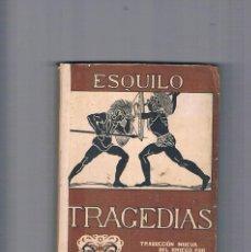 Libros antiguos: ESQUILO TRAGEDIAS PROMETEO TRADUCCION NUEVA DEL GRIEGO POR LECONTE DE LISLE. Lote 230505140