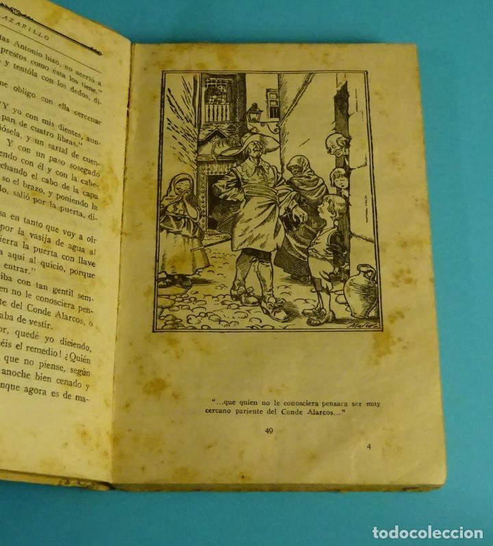 Libros antiguos: LA NOVELA PICARESCA. SELECCIÓN F. RUIZ MORCUENDE. DIBUJOS F. MARCO. COMISARIADO III CUERPO EJERCITO - Foto 2 - 232049845