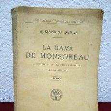 Libros antiguos: LA DAMA DE MONSOREAU. ALEJANDRO DUMAS. TOMO IV. ED. SOPENA. DESCONOZCO EL AÑO. Lote 232304975