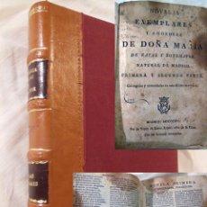 Libros antiguos: NOVELAS EJEMPLARES Y AMOROSAS. PRIMERA Y SEGUNDA PARTE. 1814 MARIA DE ZAYAS Y SOTOMAYOR. Lote 232310325