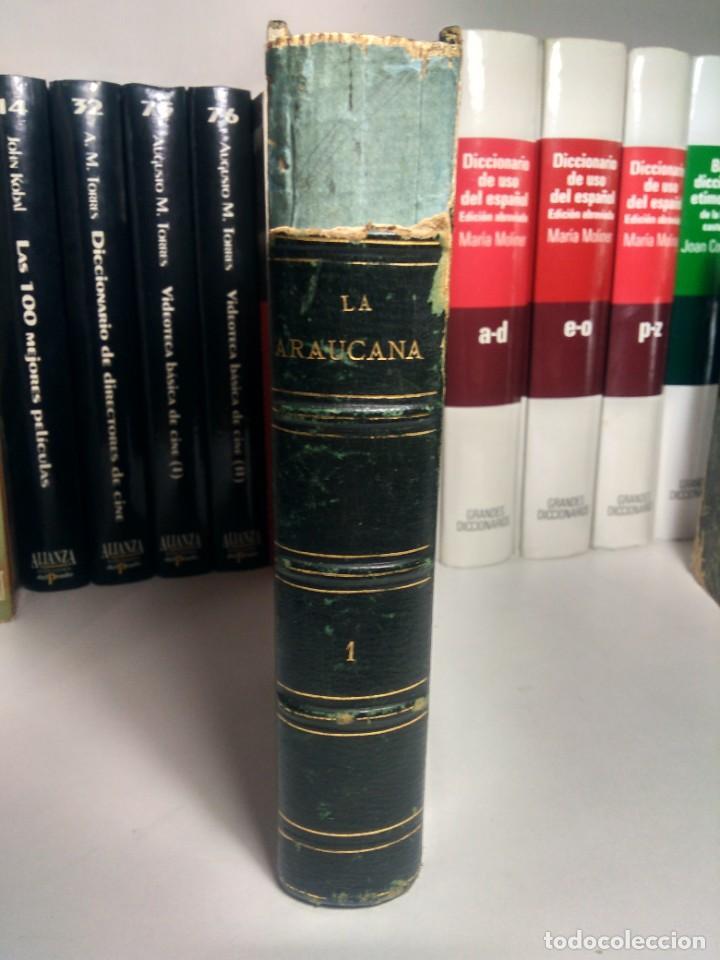 BIBLIOTECA SELECTA DE AUTORES CLÁSICOS ESPAÑOLES - ERCILLA - LA ARAUCANA - I - 1866 - MEDIA PIEL (Libros antiguos (hasta 1936), raros y curiosos - Literatura - Narrativa - Clásicos)