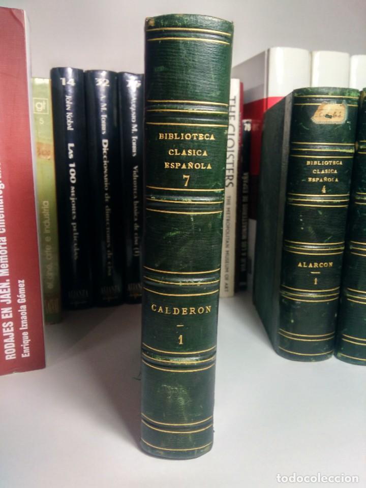BIBLIOTECA SELECTA DE AUTORES CLÁSICOS ESPAÑOLES - CALDERÓN - TEATRO - I - 1868 - MEDIA PIEL (Libros antiguos (hasta 1936), raros y curiosos - Literatura - Narrativa - Clásicos)