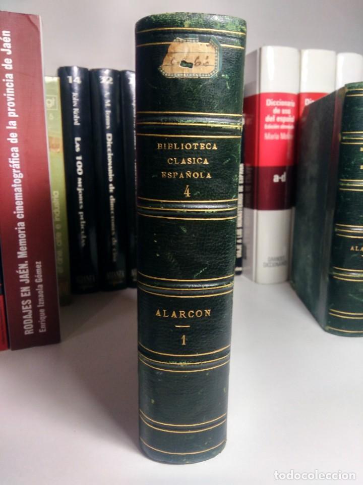 BIBLIOTECA SELECTA DE AUTORES CLÁSICOS ESPAÑOLES - ALARCÓN - COMEDIAS - I - 1867 - MEDIA PIEL (Libros antiguos (hasta 1936), raros y curiosos - Literatura - Narrativa - Clásicos)