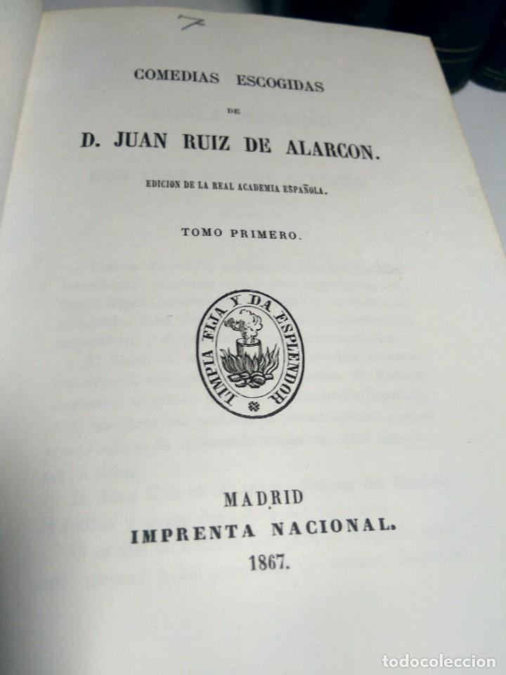 Libros antiguos: BIBLIOTECA SELECTA DE AUTORES CLÁSICOS ESPAÑOLES - ALARCÓN - COMEDIAS - I - 1867 - MEDIA PIEL - Foto 2 - 232514335