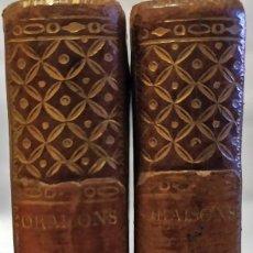 Libros antiguos: AÑO 1802: 2 TOMOS DE BOUSSET DE PRINCIPIOS DEL SIGLO XIX.. Lote 234045855