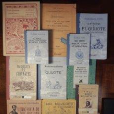 Libros antiguos: 12 LIBROS FACSÍMILES RELATIVOS A EL QUIJOTE DE LA MANCHA Y MIGUEL DE CERVANTES. SANCHO PANZA. Lote 234340345