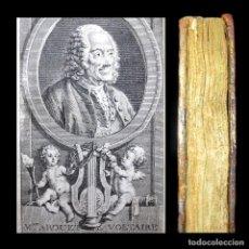 Libros antiguos: AÑO 1777 VOLTAIRE AGRICULTURA EL LOUVRE CONFUCIO CHINA FANATISMO RETRATO GRABADO MUY RARO. Lote 234412965