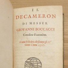 Libros antiguos: 1665 - IL DECAMERON, DI MESSER GIOVANNI BOCCACCI.. Lote 234838440