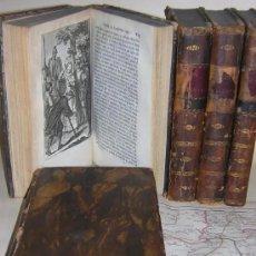 Libros antiguos: DON QUIJOTE DE LA MANCHA EN 5 TOMOS COMPLETOS. 1797. IMPRESO POR GABRIEL DE SANCHA. AMPLIOS GRABADOS. Lote 235890960