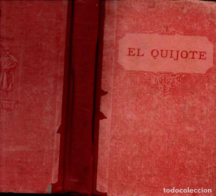 Libros antiguos: CERVANTES : EL QUIJOTE EDICIÓN ESCOLAR (F. T. D., 1932) ILUSTRADO CON VIÑETAS Y CON LÁMINAS DE DORÉ - Foto 2 - 236507410