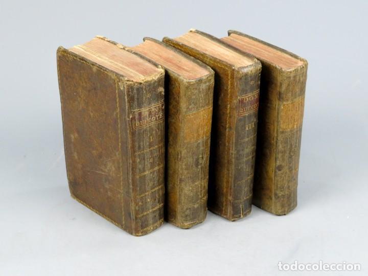 Libros antiguos: EL INGENIOSO HIDALGO DON QUIXOTE DE LA MANCHA-M. DE CERVANTES SAAVEDRA-4TOMOS-MADRID 1782 - Foto 2 - 236511435