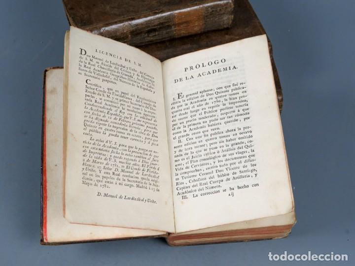 Libros antiguos: EL INGENIOSO HIDALGO DON QUIXOTE DE LA MANCHA-M. DE CERVANTES SAAVEDRA-4TOMOS-MADRID 1782 - Foto 4 - 236511435