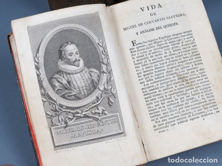 Libros antiguos: EL INGENIOSO HIDALGO DON QUIXOTE DE LA MANCHA-M. DE CERVANTES SAAVEDRA-4TOMOS-MADRID 1782 - Foto 5 - 236511435