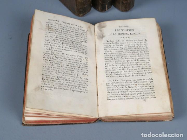 Libros antiguos: EL INGENIOSO HIDALGO DON QUIXOTE DE LA MANCHA-M. DE CERVANTES SAAVEDRA-4TOMOS-MADRID 1782 - Foto 7 - 236511435