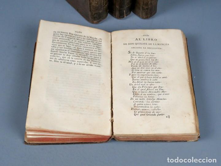 Libros antiguos: EL INGENIOSO HIDALGO DON QUIXOTE DE LA MANCHA-M. DE CERVANTES SAAVEDRA-4TOMOS-MADRID 1782 - Foto 8 - 236511435