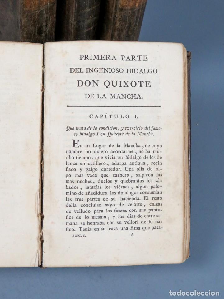Libros antiguos: EL INGENIOSO HIDALGO DON QUIXOTE DE LA MANCHA-M. DE CERVANTES SAAVEDRA-4TOMOS-MADRID 1782 - Foto 9 - 236511435