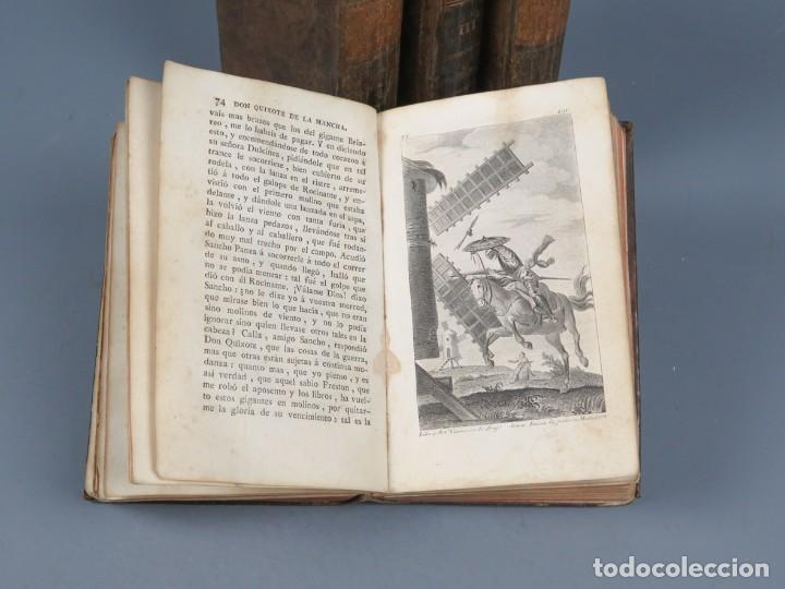 Libros antiguos: EL INGENIOSO HIDALGO DON QUIXOTE DE LA MANCHA-M. DE CERVANTES SAAVEDRA-4TOMOS-MADRID 1782 - Foto 10 - 236511435