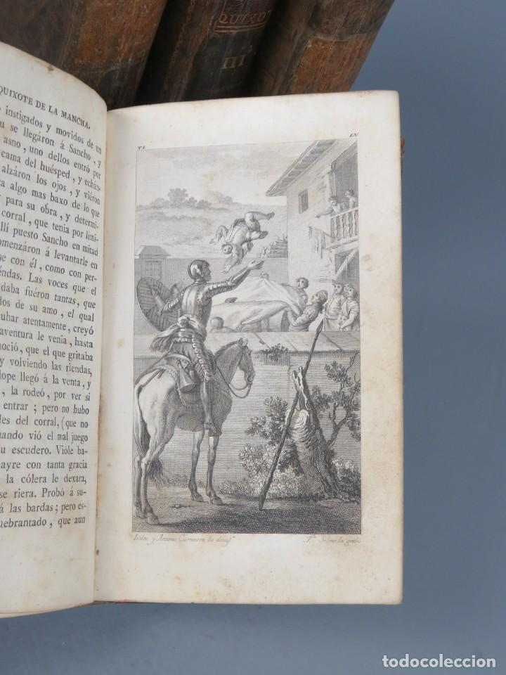Libros antiguos: EL INGENIOSO HIDALGO DON QUIXOTE DE LA MANCHA-M. DE CERVANTES SAAVEDRA-4TOMOS-MADRID 1782 - Foto 11 - 236511435