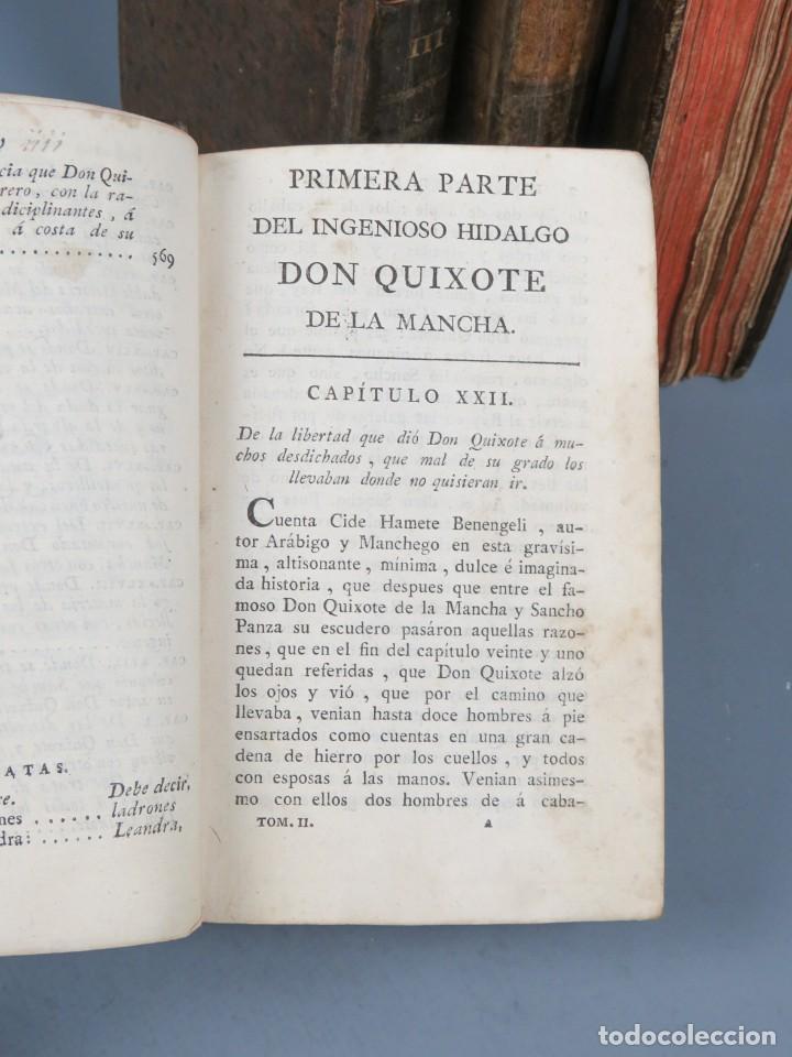Libros antiguos: EL INGENIOSO HIDALGO DON QUIXOTE DE LA MANCHA-M. DE CERVANTES SAAVEDRA-4TOMOS-MADRID 1782 - Foto 14 - 236511435