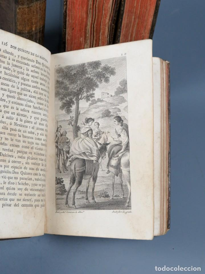 Libros antiguos: EL INGENIOSO HIDALGO DON QUIXOTE DE LA MANCHA-M. DE CERVANTES SAAVEDRA-4TOMOS-MADRID 1782 - Foto 20 - 236511435