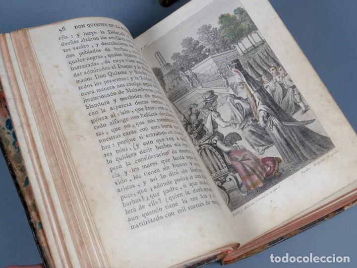 Libros antiguos: EL INGENIOSO HIDALGO DON QUIXOTE DE LA MANCHA-M. DE CERVANTES SAAVEDRA-4TOMOS-MADRID 1782 - Foto 24 - 236511435