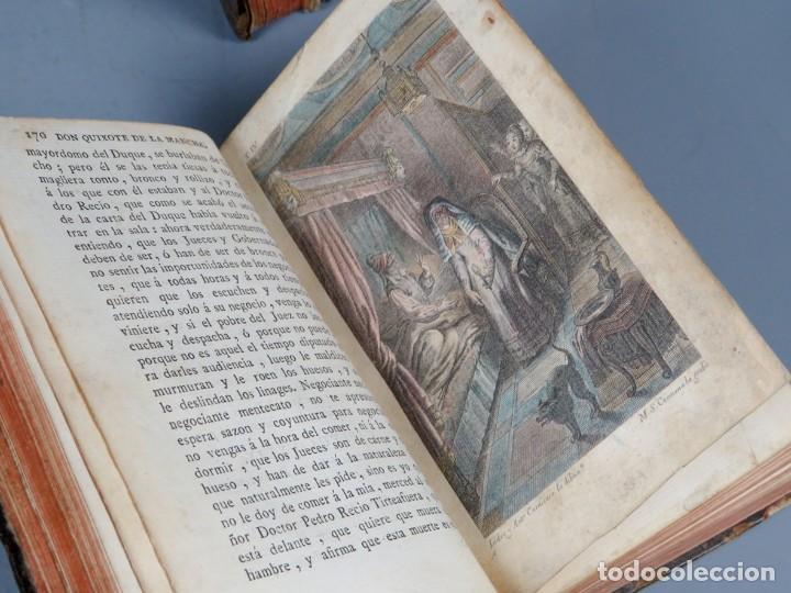Libros antiguos: EL INGENIOSO HIDALGO DON QUIXOTE DE LA MANCHA-M. DE CERVANTES SAAVEDRA-4TOMOS-MADRID 1782 - Foto 25 - 236511435