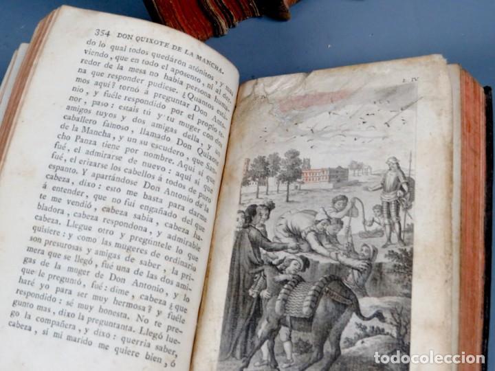 Libros antiguos: EL INGENIOSO HIDALGO DON QUIXOTE DE LA MANCHA-M. DE CERVANTES SAAVEDRA-4TOMOS-MADRID 1782 - Foto 26 - 236511435