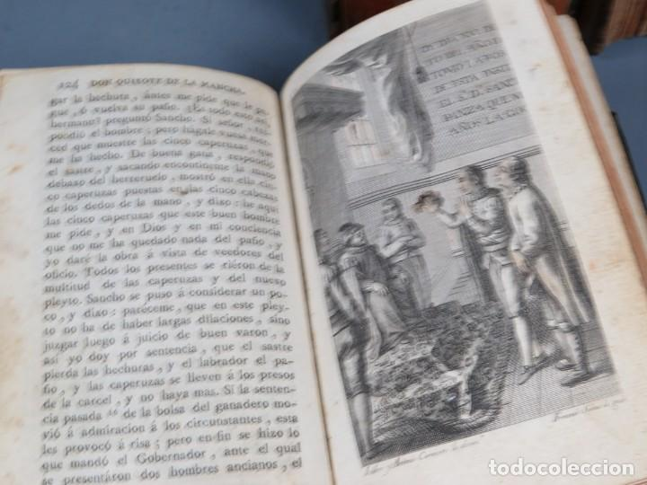 Libros antiguos: EL INGENIOSO HIDALGO DON QUIXOTE DE LA MANCHA-M. DE CERVANTES SAAVEDRA-4TOMOS-MADRID 1782 - Foto 27 - 236511435
