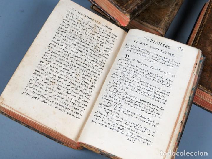 Libros antiguos: EL INGENIOSO HIDALGO DON QUIXOTE DE LA MANCHA-M. DE CERVANTES SAAVEDRA-4TOMOS-MADRID 1782 - Foto 31 - 236511435